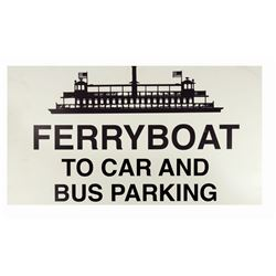 Walt Disney World Ferryboat Sign.