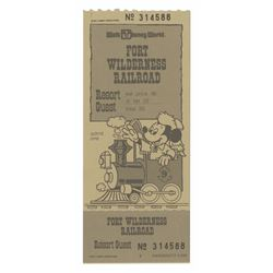 Fort Wilderness Railroad Ticket.