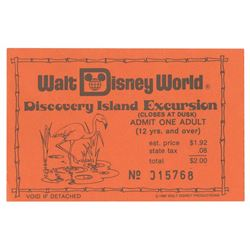 Discovery Island Excursion Ticket.
