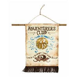 Adventurers Club Hand-Painted & Signed Banner.