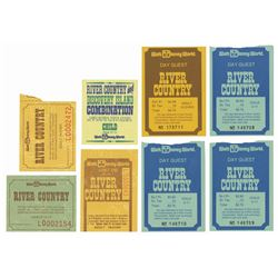 Collection of (8) River Country Tickets.