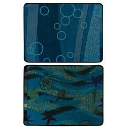 Pair of Art of Animation Resort Carpet Samples.