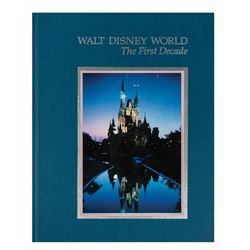 """Walt Disney World: The First Decade"" Hardcover Book."