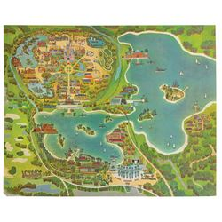 Early Oversize Walt Disney World Map