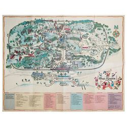 1975 Walt Disney World Souvenir Map.