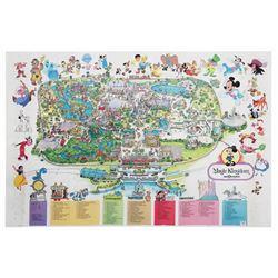 1987 Magic Kingdom Souvenir Map.