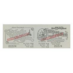 Walt Disney World Opening Year Complimentary Ticket.