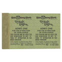 "Adult Admission ""A"" Thru ""E"" Ticket Book."