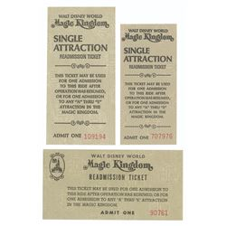 Set of (3) Single Ride Readmission Tickets.