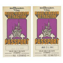 Pair of Magic Kingdom Attraction Passports.