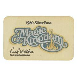 Walt Disney World Silver Pass Original Artwork.