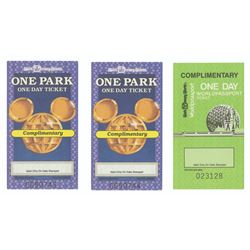 Group of (3) One Day Complimentary Tickets.