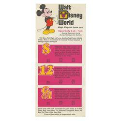 Walt Disney World Ticket Price Flyer.