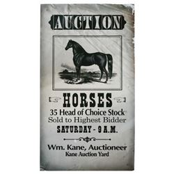 Main Street Horse Auction Poster.