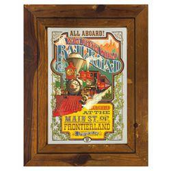 Walt Disney World Railroad Mirror Poster.