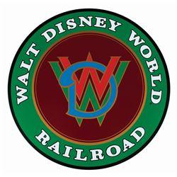 Walt Disney World Railroad Replica Sign.