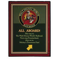 Walt Disney World Railroad Sign.