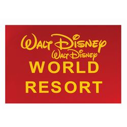 Walt Disney World Resort Sign Test.