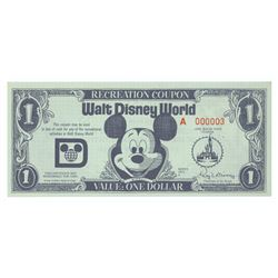 Walt Disney World Recreation Dollar.