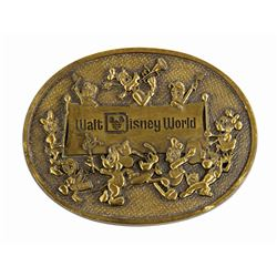 Walt Disney World Brass Belt Buckle.