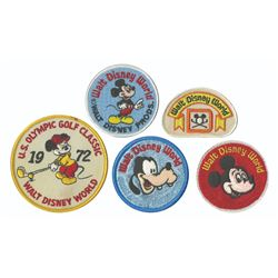 Collection of (5) Walt Disney World Patches.