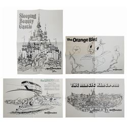 Set of (4) General Mills Magic Kingdom Coloring Pages.
