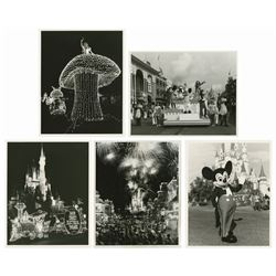 Group of (5) Walt Disney World Press Photos.