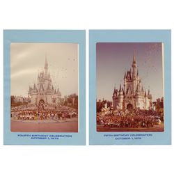 Pair of Walt Disney World Birthday Celebration Photos.