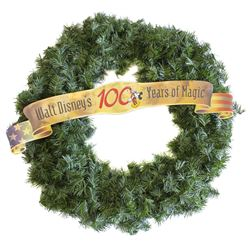 """Walt Disney's 100 Years of Magic"" Christmas Wreath."