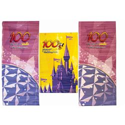 "Set of (3) ""Walt Disney's 100 Years of Magic"" Banners."