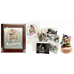 America on Parade Press Items & Music Box.