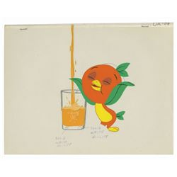 Florida Citrus Orange Bird Animation Cel Set-Up.