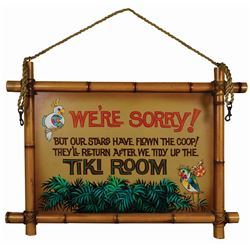 Enchanted Tiki Room Closed Sign.