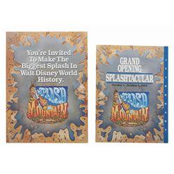 Splash Mountain Grand Opening Invitation.