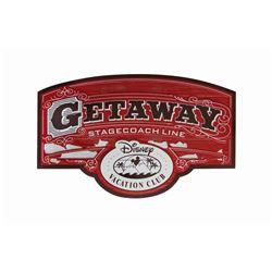 Getaway Stagecoach Line Disney Vacation Club Sign.
