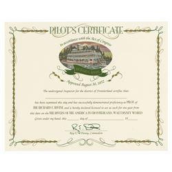Richard F. Irvine Pilot's Certificate.