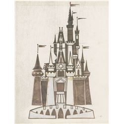 Cinderella Castle Pre-Opening Logo Concept Drawing.