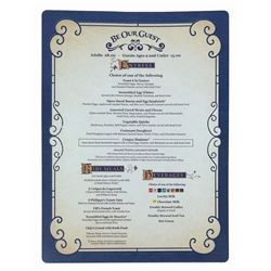 Be Our Guest Restaurant Menu.