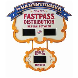 The Barnstormer FastPass & Stand-By Wait Time Sign.