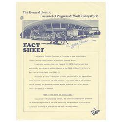 Signed Carousel of Progress Fact Sheet.