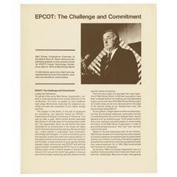 Donn B. Tatum Epcot Speech.