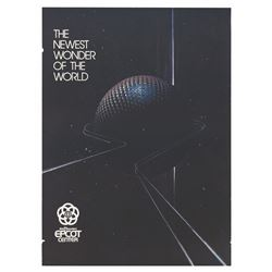 Epcot Pre-Opening Spaceship Earth Poster.