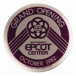 Harper Goff's Epcot Grand Opening Admission Badge.