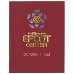 Epcot Grand Opening Cast Member Booklet.