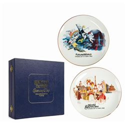 Epcot Center Opening Day Commemorative Plates.