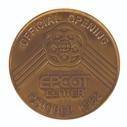 Epcot Grand Opening VIP Numbered Coin.