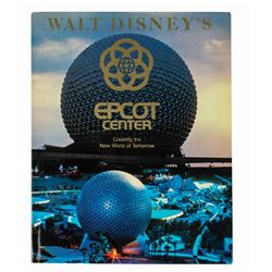"""Walt Disney's Epcot Center"" Hardcover Book."
