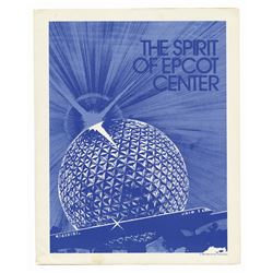"""The Spirit of Epcot Center"" Cast Member Folder."