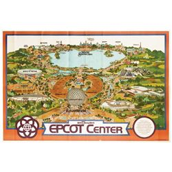 1982 EPCOT Center Souvenir Map.