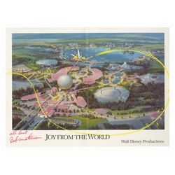 Signed 1982 Walt Disney Productions Christmas Card.